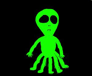 alien with 5 legs