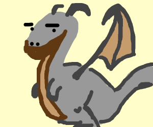 a grey and brown dragon
