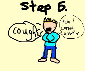 step 5: choke