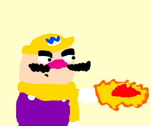 Wario learns the falcon punch
