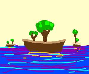 Trees on boats