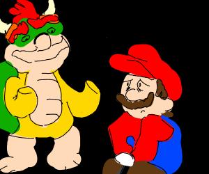 Mario gives up