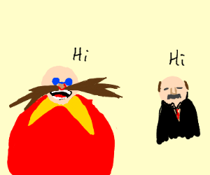 dr eggman and dr phill having a conversation