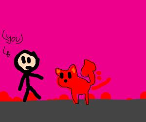 Demon dog finds you