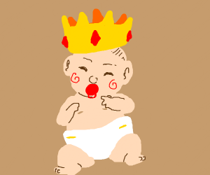 A kid is crowned as the new king