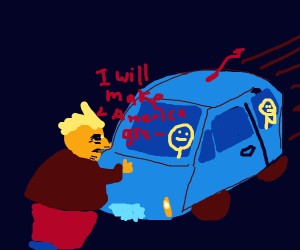 Trump gets hit by a car