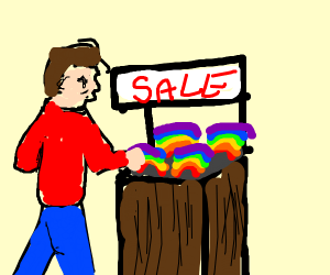 shopping for rainbow