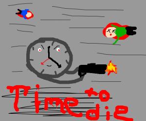 Clock shooting people