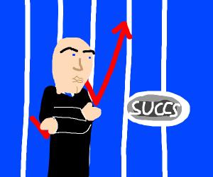 Stonks are up. 'Succs,' says Meme Man