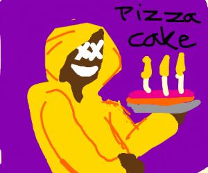 Dark Dom Loves Pizza Cake