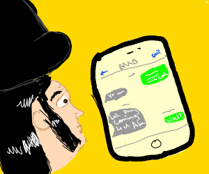 Lincoln getting a Text Message