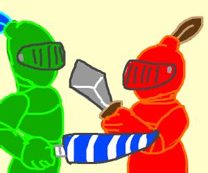 Green Knight VS Red Knight