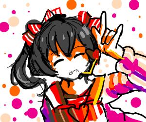 nico nico nii (anime girl)