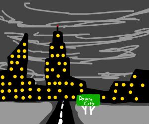 Down city