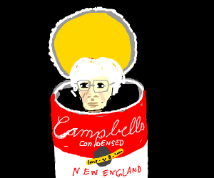 Warhol in a can of soup