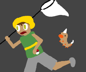 bug catcher afread of weedles