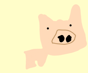 pig with a huge head