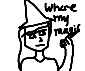 wizard is confused because he dont have magic