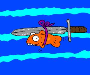 swordfish. literal swordfish.