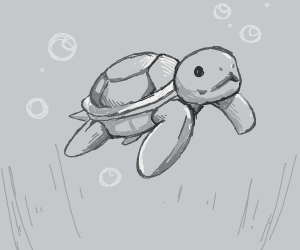 Grayscale turtle
