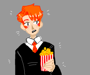 Ron Weasley has Popcorn