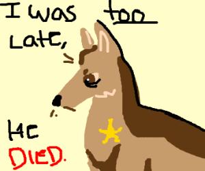 Dog having a bad day