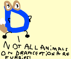 Not every animal on Drawception is a furry!