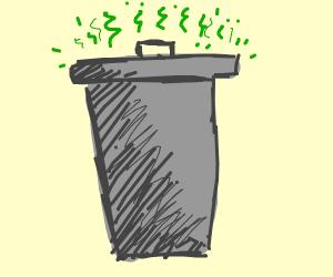 A smelly trashcan