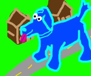 Cloffird, the big blue dog