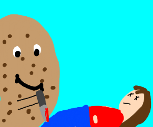 Chocolate chip cookie murders a girl