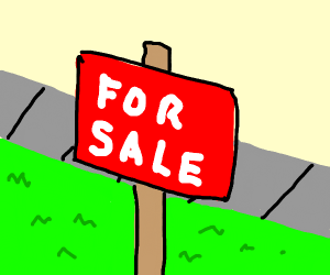 A large for sale sign