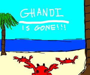 crab killed ghandi