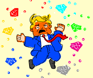 Trump gets all the chaos emeralds PIO