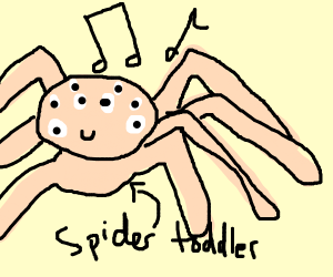 Spider-Toddler sings a cute song
