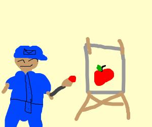 A postman decides to become an artist