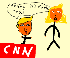 Infant Trump can spot fake news