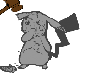 Man shatters Pikachu