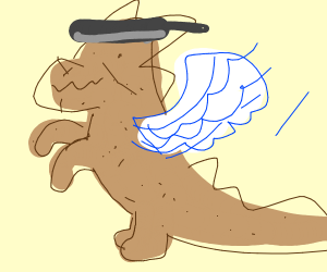 Potato dinosaur hybrid cook