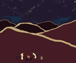 Night in a desert