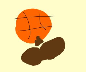 Basketball took a dump