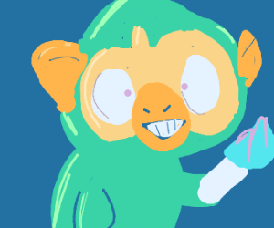 Grookey has a knife and will stab u