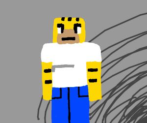 homer simpson in minecraft