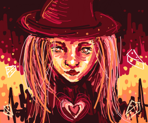 witch with heart