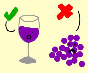 Wine approves, but Grape dosen't