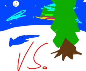 swordfish vs. tree