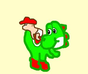 Yoshi shepherds Baby Mario