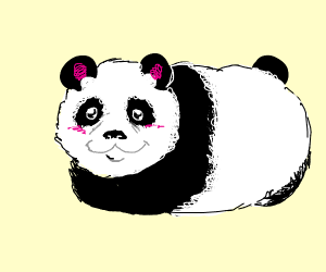 Cute panda has no legs
