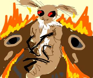 Flaming death glare moth dragon