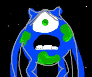 mike wazowski + earth