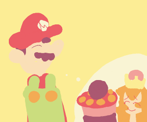 mario wants cake from 1985